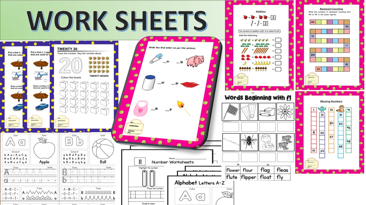 WORKSHEET DESIGNS